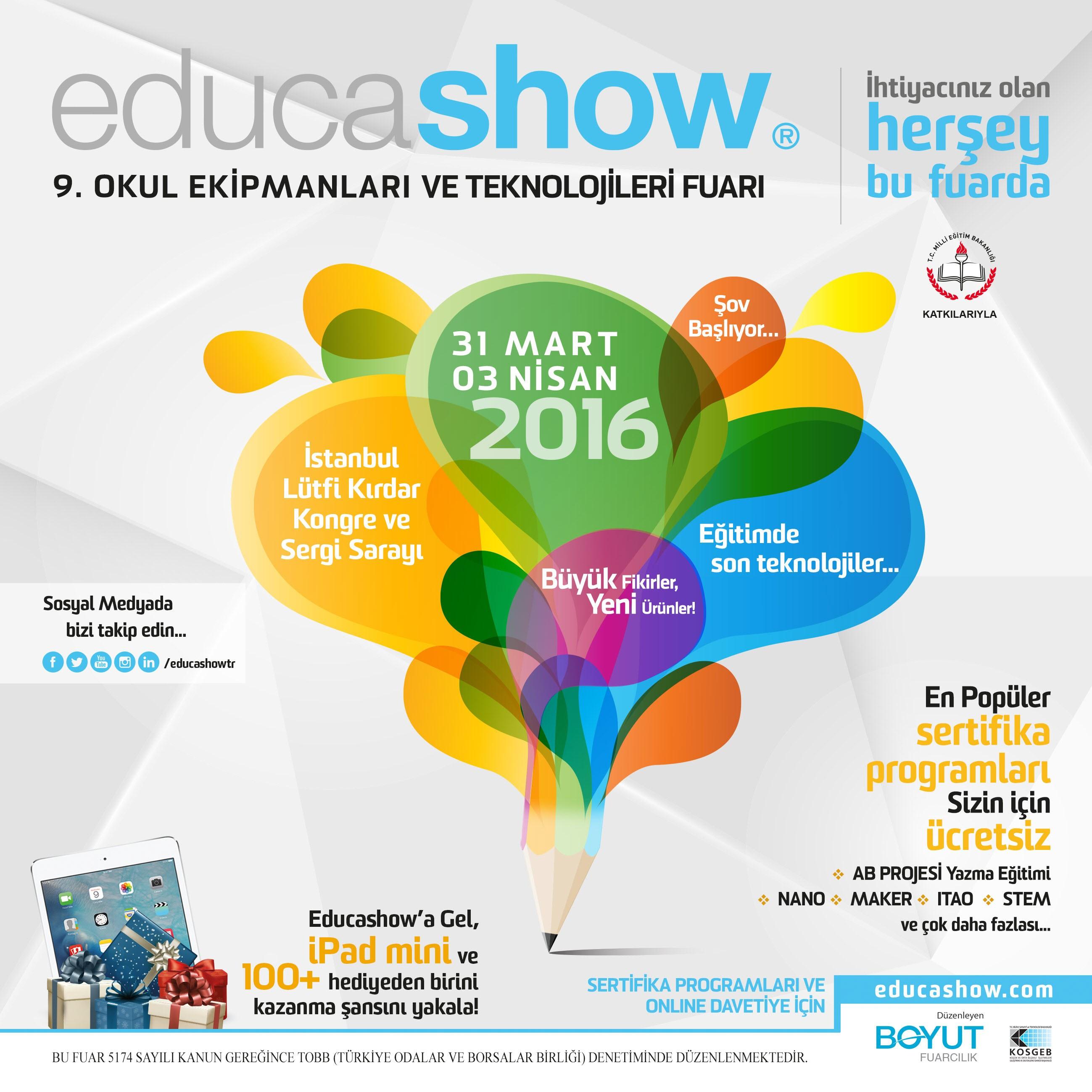 Educashow fuarı kapılarını açıyor!