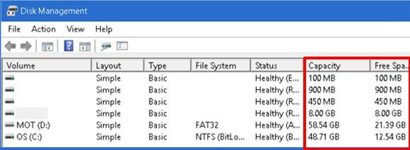 Windows 10'un gizli disk bölümleri...