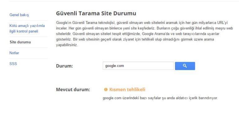 Google, kendini tehlikeli olarak listeledi!