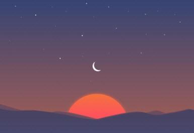 Sunrise için günbatımı vakti!