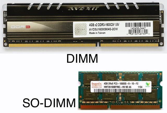 RAM form faktörleri