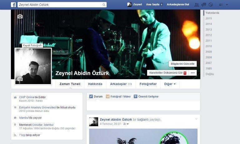 7. Facebook hesabını kalıcı olarak silmek