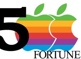 Apple, Fortune 500 listesinde üçüncü sırada!
