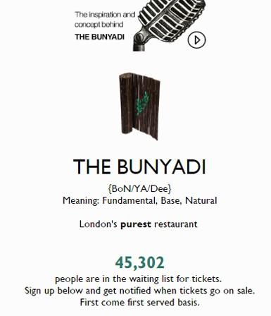 """Londra'nın yeni, """"çıplak"""" restoranı Bunyadi"""