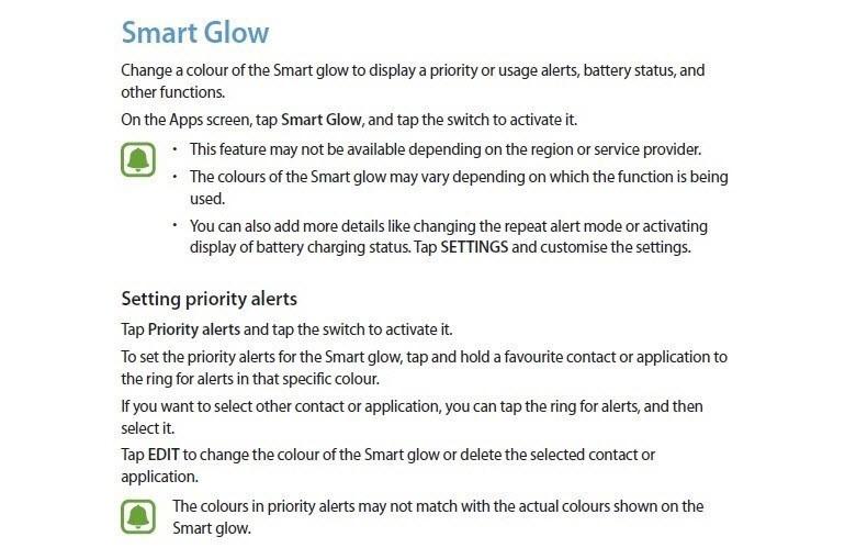 Samsung, uyarı ışığını böyle değiştirebilir!