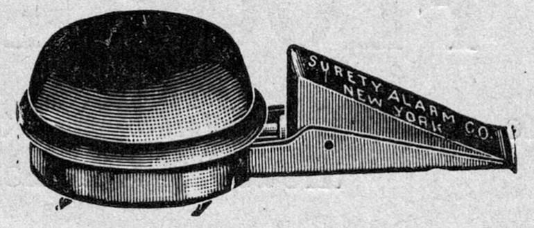 1906 yılının dahice tasarlanmış hırsız alarmı!