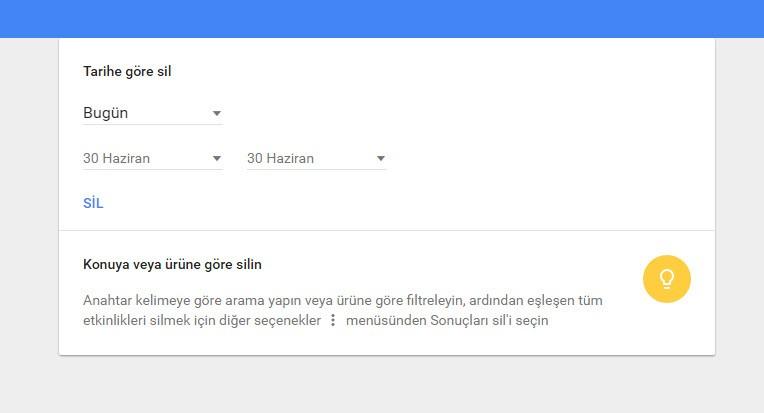 """Google'dan yeni """"Etkinliğim"""" sayfası!"""