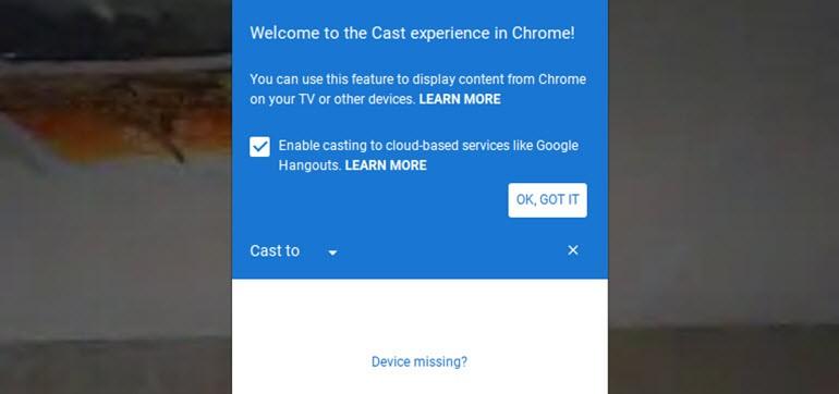 Chromecast özellikleri Chrome'a geliyor!