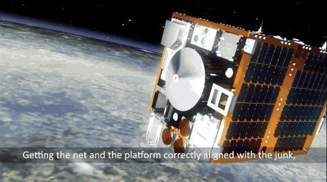 Uzay çöplerinin toplanması için müthiş yöntem!