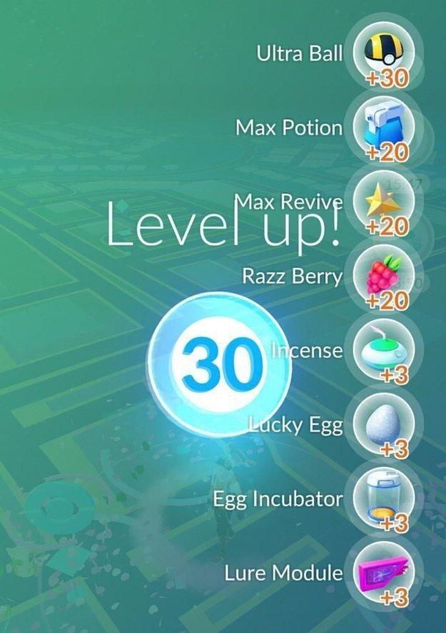 Pokemon Go'da 30. seviye görüldü!