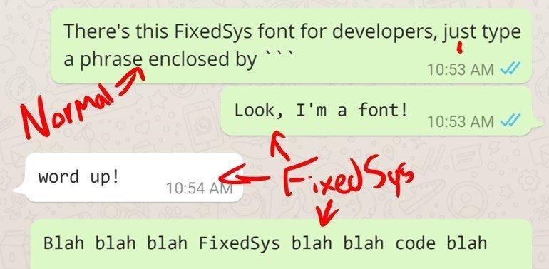 WhatsApp'ta gizli yazı tipi keşfedildi!