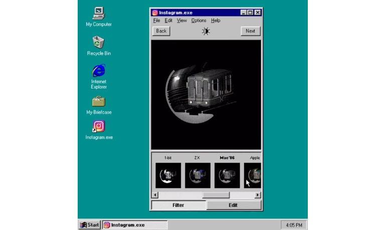 Instagram Windows 95'e gelseydi, böyle olacaktı?