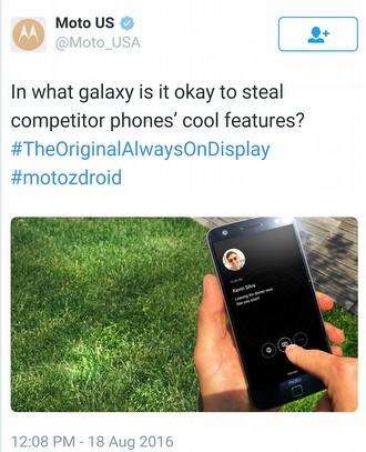 Motorola'dan Galaxy Note 7 için şok suçlama!