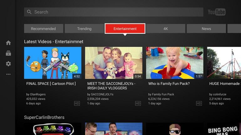 YouTube'un büyük ekran uygulaması güncelleniyor