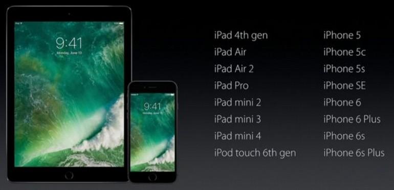 iOS 10, hangi cihazlara yüklenebiliyor?