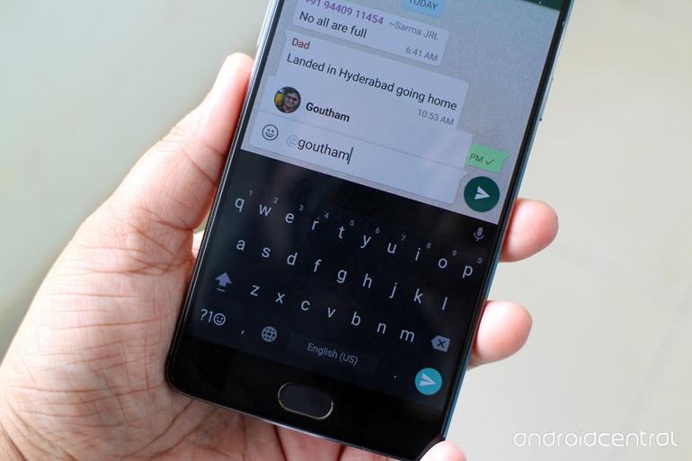 WhatsApp grup sohbetlerine etiketleme işlevi!