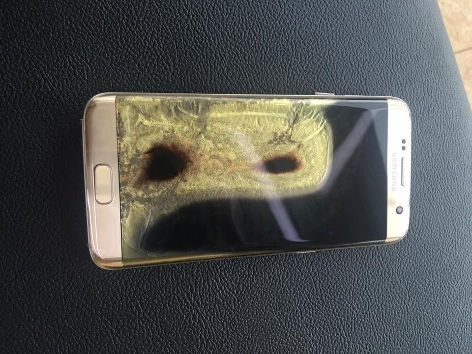 Galaxy S7 Edge tweet atarken duman çıkardı ve yandı!