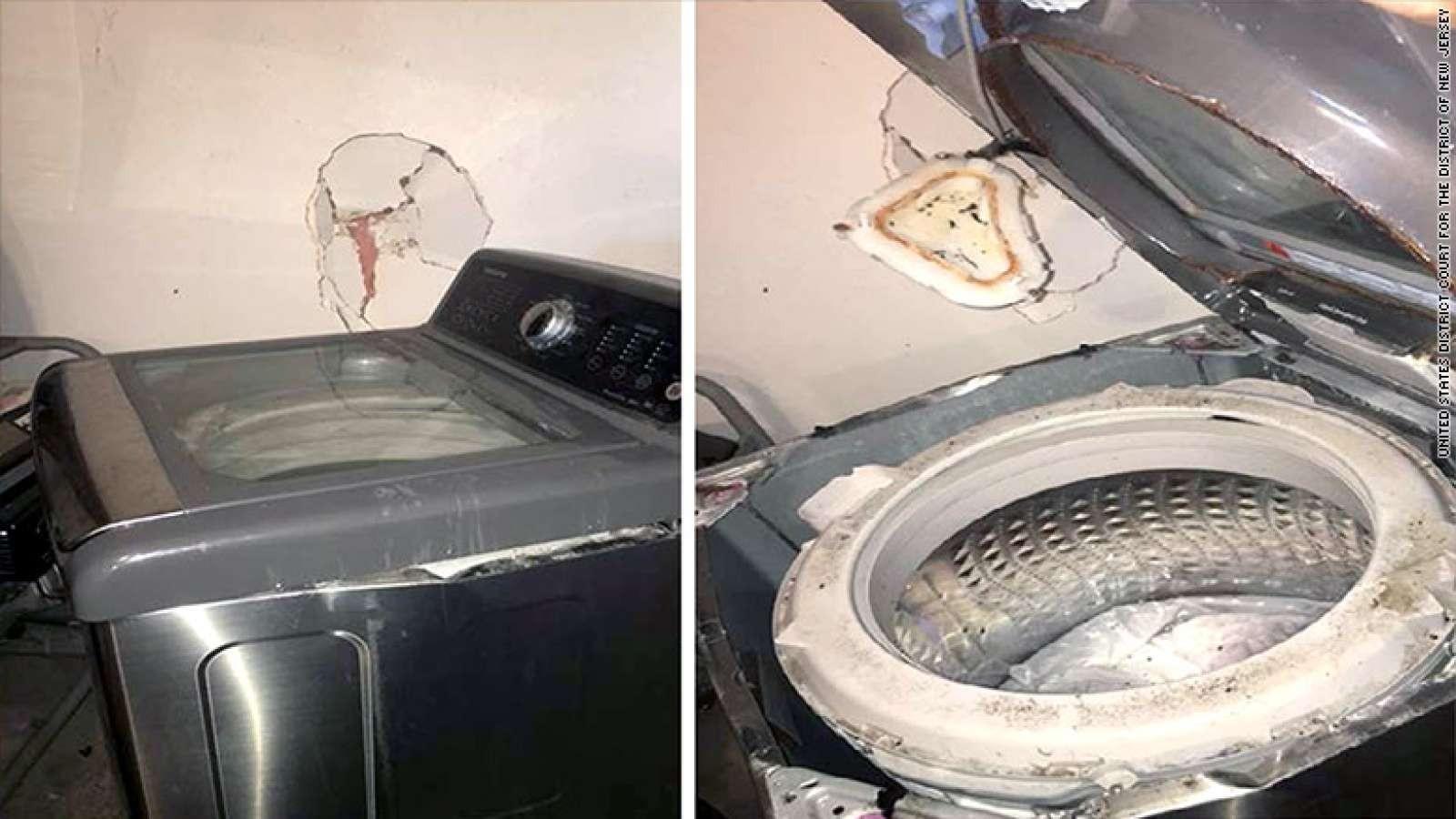 Samsung çamaşır makinesi patladı