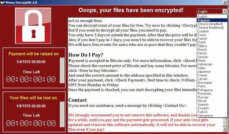 WanaCrypt0r 2.0 virüsü 74 ülkede yayıldı
