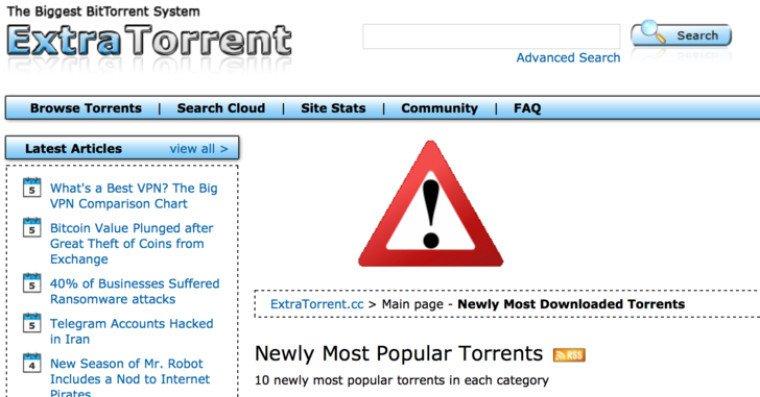 Bir Büyük Torrent Sitesi Daha Kapandı!