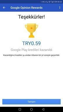Google Ödüllü Anketler Uygulaması Başladı!