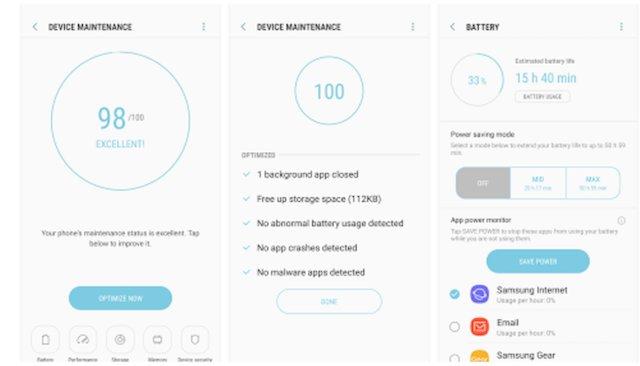 Samsung Device Maintenance, Play Store'a Geldi!