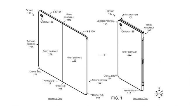 Microsoft'tan Katlanan Ekranlı Telefon Patenti!