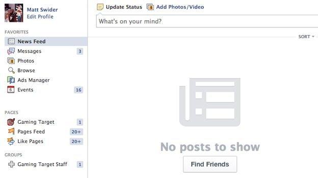 """Facebook Haber Kaynağı'nda """"Gönderi Yok"""" Sorunu!"""