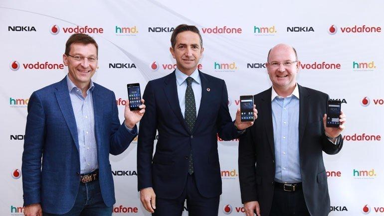 Nokia Akıllı Telefonlar Vodafone'da Satışa Çıkıyor