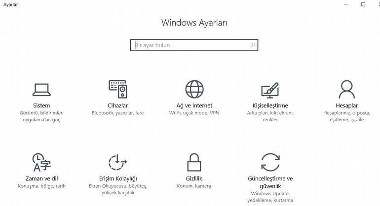 Windows 10'da Yerel Hesap Oluşturma Adımları