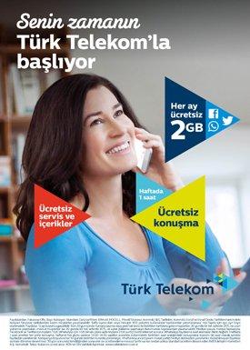 Türk Telekom'dan 2 GB internet hediye