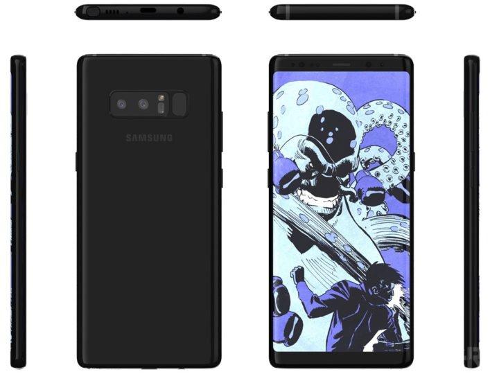 Galaxy Note 8'in Tasarımı İşte Böyle Olacak!