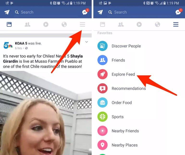 Facebook'un Gizli Haber Kaynağına Göz Atın!