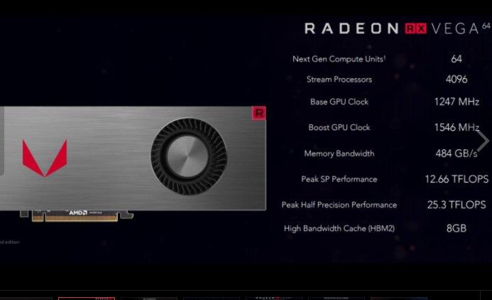 İşte Radeon RX Vega kart ailesi ve tüm özellikleri: