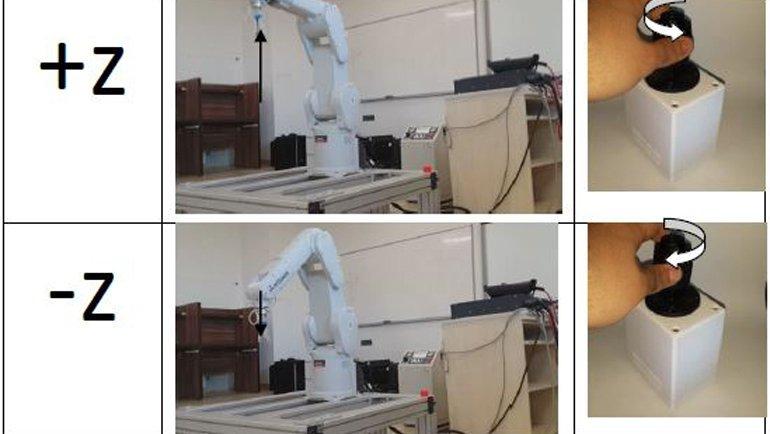 3D joystick ile robot kontrolü