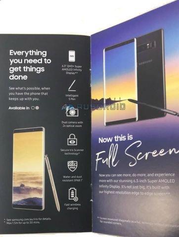 Galaxy Note 8 Broşürü, Önemli Detayları Doğruladı!