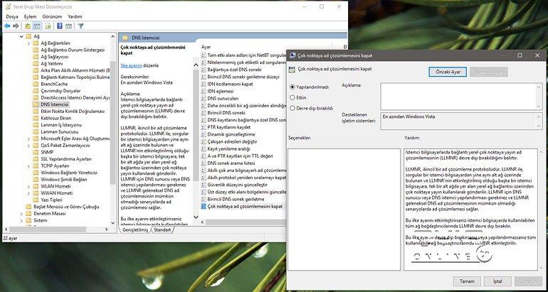 VPN'lerde Windows 10 ve 8'in DNS Sızıntısını Kesin