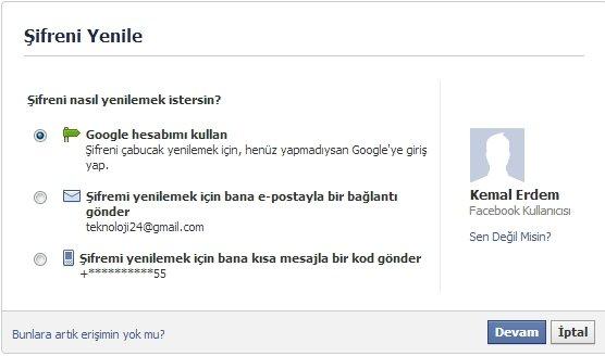 Facebook Hesabını Koruma