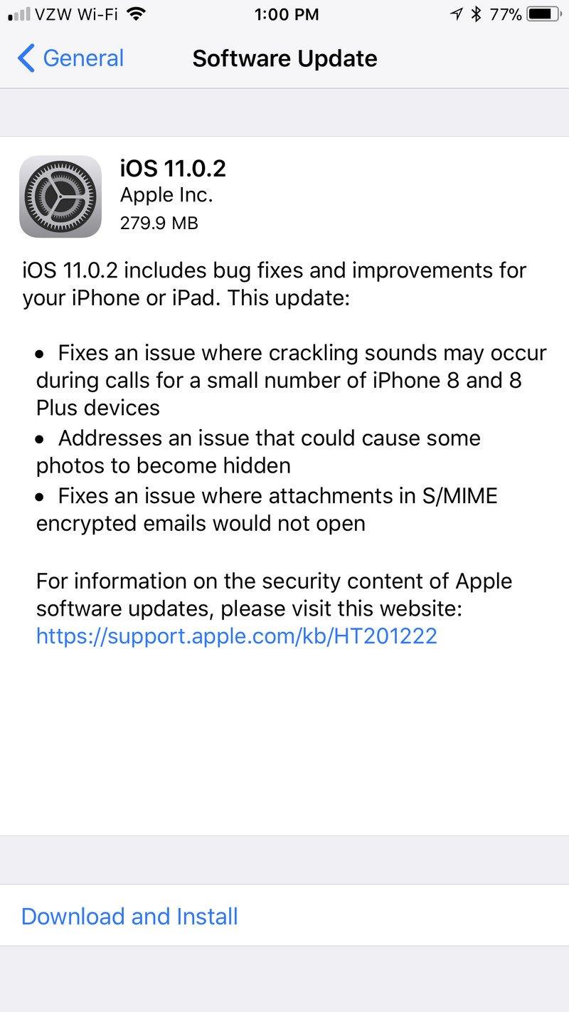 iOS 11.0.2 Ses Çatırdama Sorununu Çözdü
