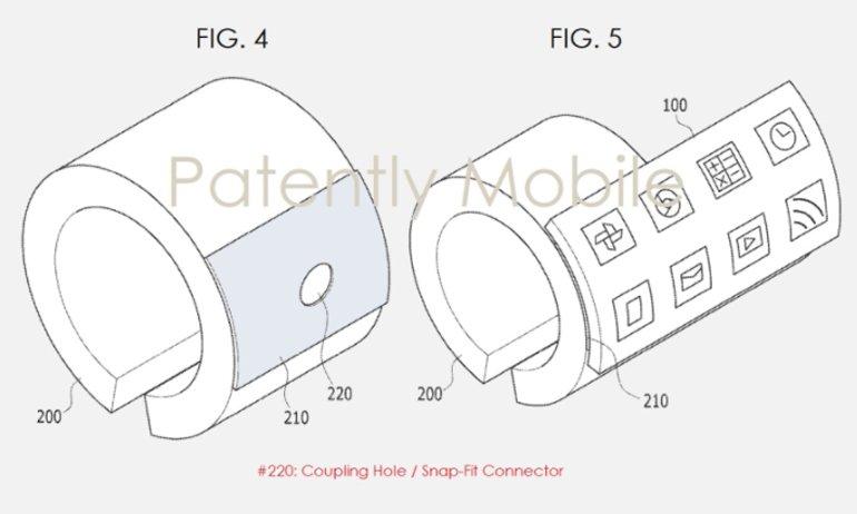 Samsung esnek ekranlı bileklik patentini aldı