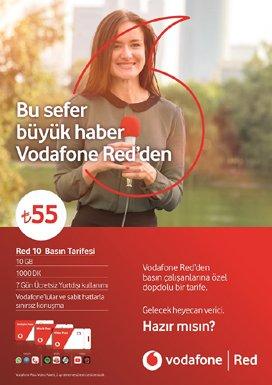 Vodafone Red basın tarifesi yenilendi