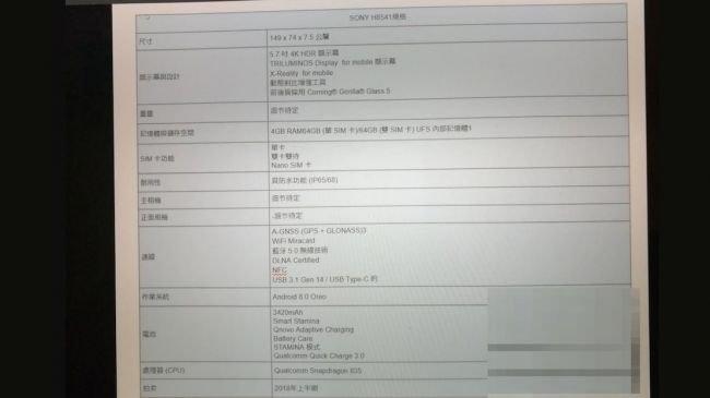 Sony Xperia XZ Premium 2'den Bilgiler Sızdı!