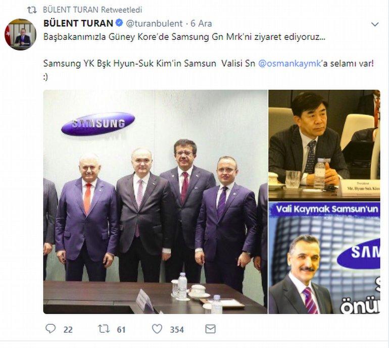 Samsung'dan Samsun'a Selam Geldi