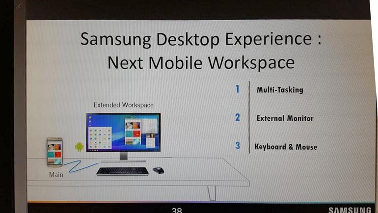 Galaxy S8, PC Benzeri İşlevsellik Sunabilir
