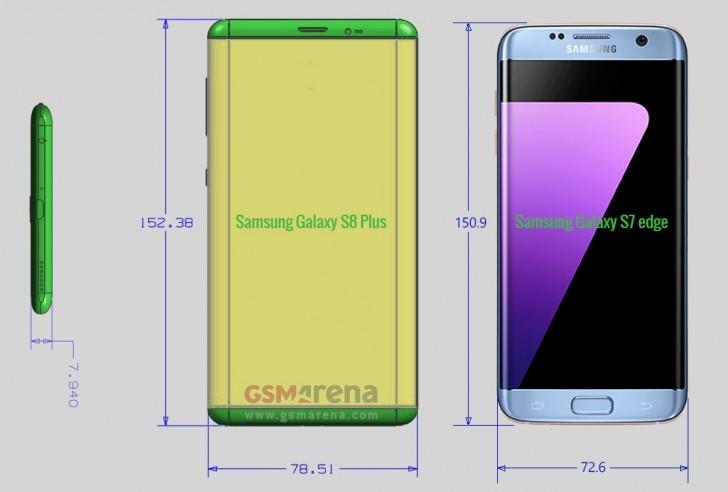 Galaxy S8 ve S8 Plus'ın Ölçüleri Sızdı!