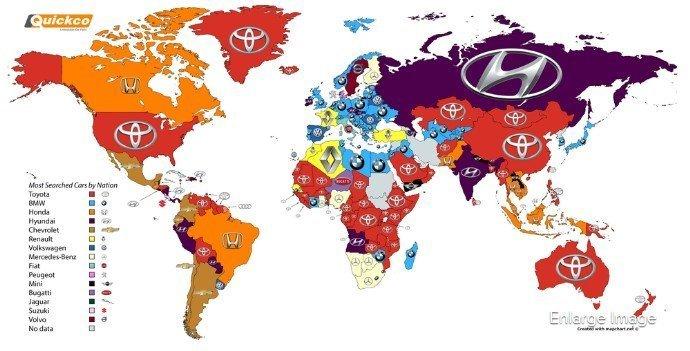 Hangi Otomobil Markası, Nerede Daha Çok Aranıyor?