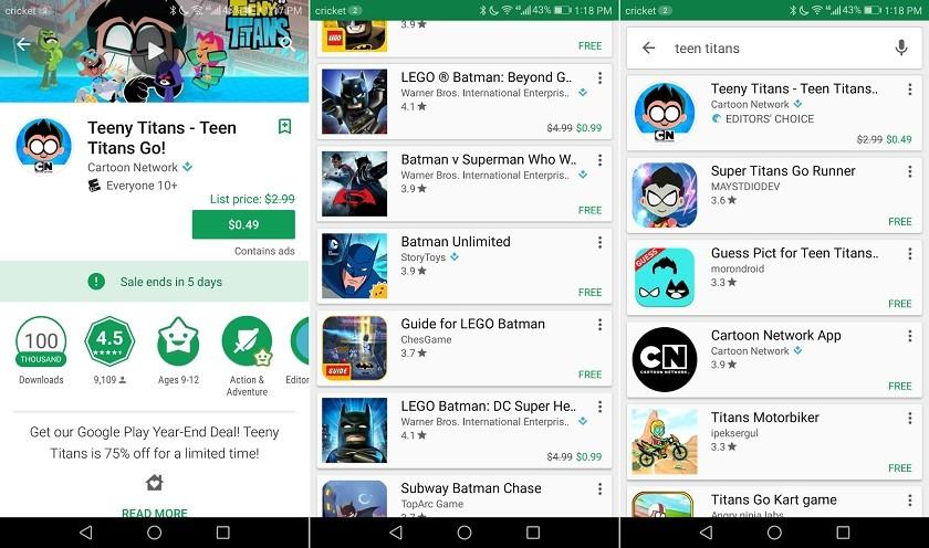 Google Play Store'a Yeni Geliştirmeler!