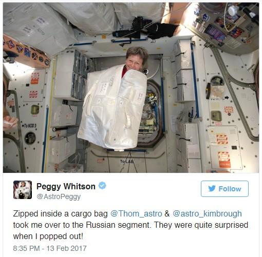 Astronotlar Kısacık Boş Vakitlerinde Böyle Şakalaştılar