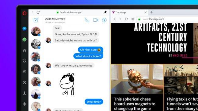 Opera, Facebook Messenger ile Yeniden Doğdu!