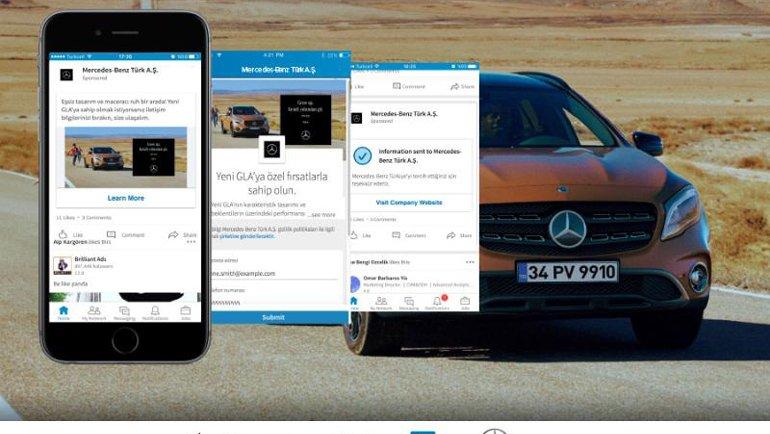 Mercedes-Benz GLA Facelift LinkedIn Kampanyası